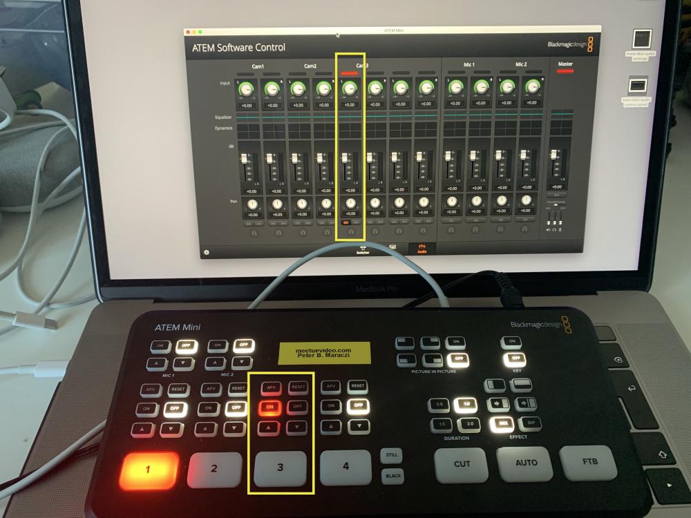 Blackmagic Design Atem Mini Split Audio Into Separate Mono Channels Meetupvideo